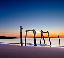 Sunset at Cat Bay Phillip Island, Victoria, Australia by Ben  Cadwallader