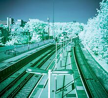 Infra-Red Train Station by Marsstation