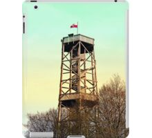 Observation tower in vivid colors | architectural photography iPad Case/Skin