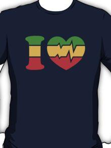 I Love, Reggae, Rastafari, Africa, Jah, Jamaica,  T-Shirt