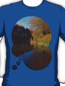 Romantic evening at the pond | waterscape photography T-Shirt