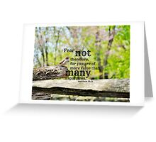Fear Not Matthew 10 Greeting Card