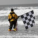 Checkered flag by Roxy J