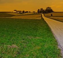 Country road on a summer afternoon   landscape photography Sticker