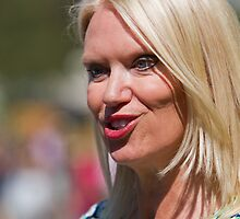 Anneka Rice at RHS Chelsea Flower Show by Keith Larby