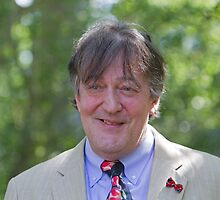 Stephen Fry at RHS Chelsea Flower Show by Keith Larby