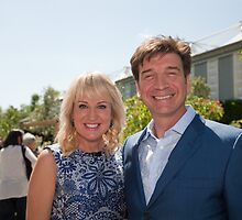 Nick Knowles at RHS Chelsea Flower Show  by Keith Larby