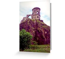Mow Cop Castle, Fuji Velvia Greeting Card