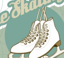 Iсe skating in retro style  Sticker
