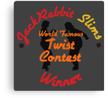 JackRabbit Slims Twist Contest Winner - Iphone / Ipod / Print / Shirt Canvas Print