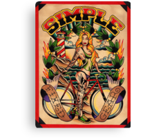 Simple Fixed Gear 01 Canvas Print