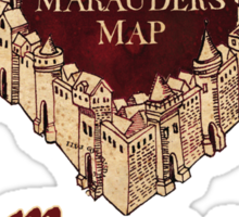 Marauders' Map Sticker