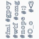 Hashtag Stickers 1 by Kellyanne