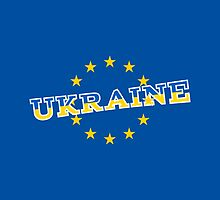 Ukraine and European Union flag  by piedaydesigns