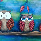 Three Owls by Kristy Spring-Brown