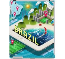 Isometric Infographic of Brazil on Tablet iPad Case/Skin