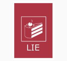 "Portal ""The Cake is a lie"" Sticker by ChinaDawn"
