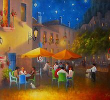 Starry Night Cafe Society by Raymond Gilronan
