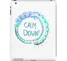 Calm Down (in blue swirl) iPad Case/Skin