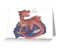 Baby Smaug - commissioned by smauglet Greeting Card