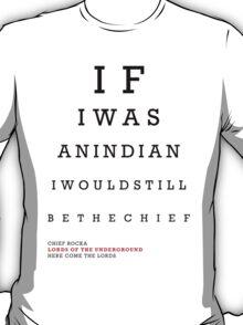 Indian Eye Chart T-Shirt