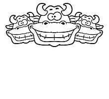 3 grinning cows friends team by Style-O-Mat
