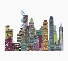 Boston city skyline Kids Clothes