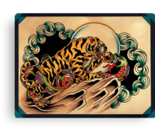 Tiger x Snake (Battle Royale) Canvas Print