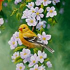 Female Goldfinch iPhone Case by csforest