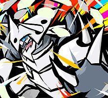 Mega Aggron | Metal Burst  by ishmam