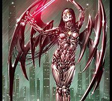 Cyberpunk Painting 024 by Ian Sokoliwski