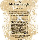 Shakespeare's A Midsummer Night's Dream Front Piece by Sally McLean