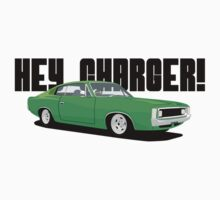 HEY CHARGER - GREEN by antdragonist