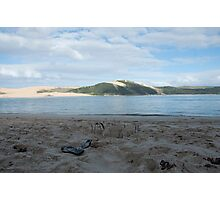 Seascape - Sandcastle and Jandals Photographic Print