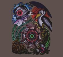 hold fast sailor's wife with pelican tattoo flash, shirts by resonanteye