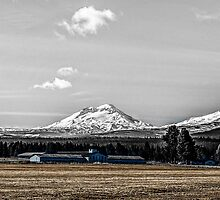 Broken Top and the Three Sisters by Richard Bozarth