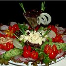 A SERVING IN DELICIOUS SALADS by Magaret Meintjes
