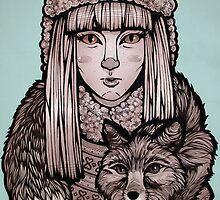 Fox Girl by elizabethnicole