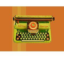 Vintage Tin Mettoy Supertype  Antique Typewriter 1960's Photographic Print