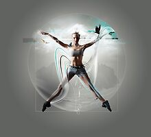 Vitruvian woman by pushgraphic