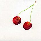 Two cherries by Simon Rudd