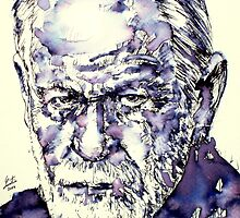 SIGMUND FREUD - portrait.3 by lautir