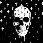 After market, gothic skull with crosses by KristyPatterson