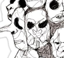 Slipknot Continuous Line Sticker