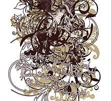 Alice in Wonderland Jabberwocky Grunge by Sally McLean