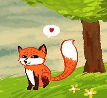 Cute Fox by Kvyna