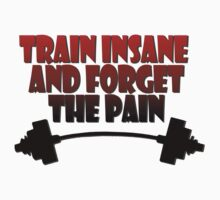 train insane and forget the pain red black by joba1366