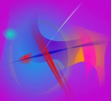 Purple Pink Abstract Space with Red Impact by masabo