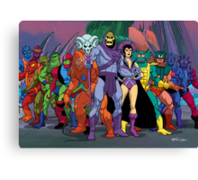Evil Warriors Filmation Style Canvas Print