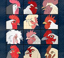 Rooster Face by Janet Carlson